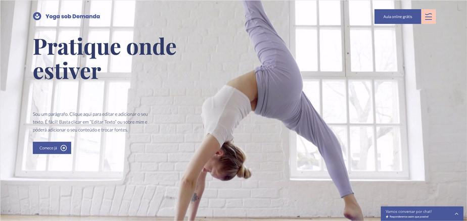 Site de Yoga Template