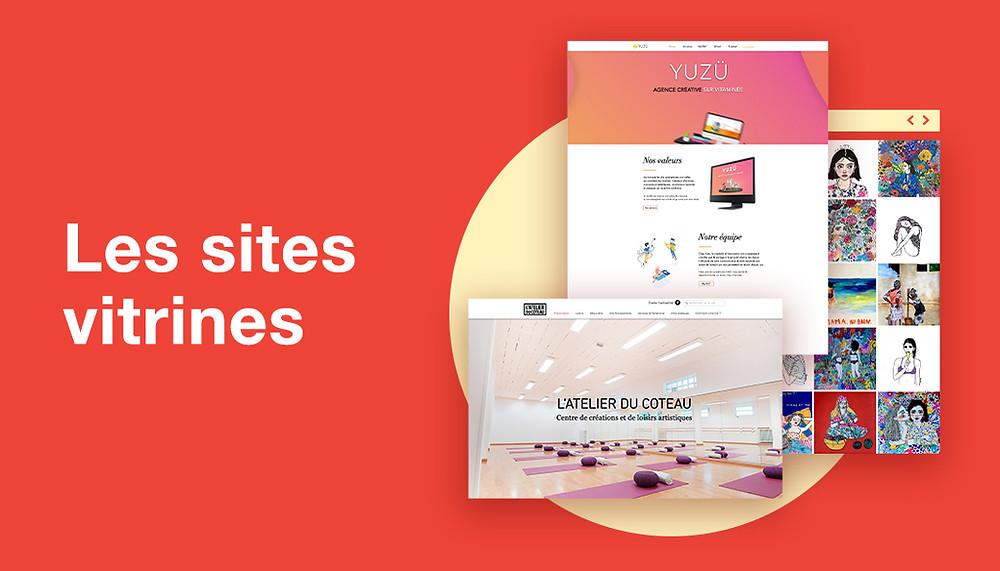 Exemples sites vitrines