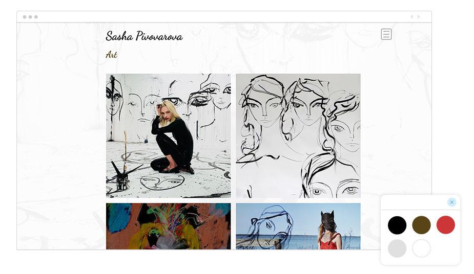 Sasha Pivovarova Wix website