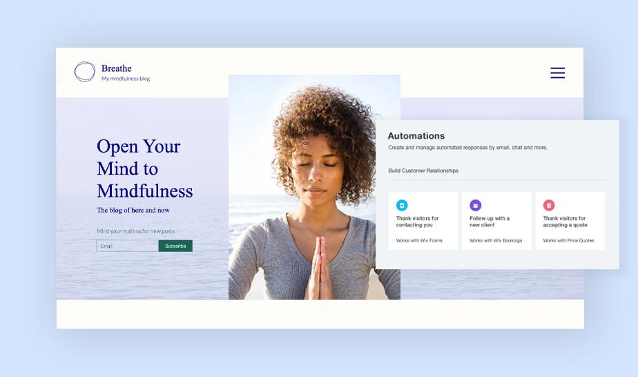 Mindfulness blog and marketing automations