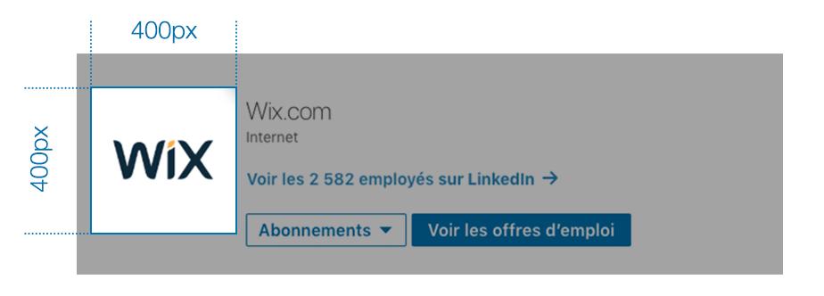 page d'entreprise LinkedIn - logo