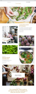 Vegetarian Restaurant Website Template