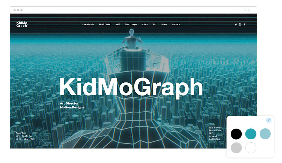 Kidmograph Wix website