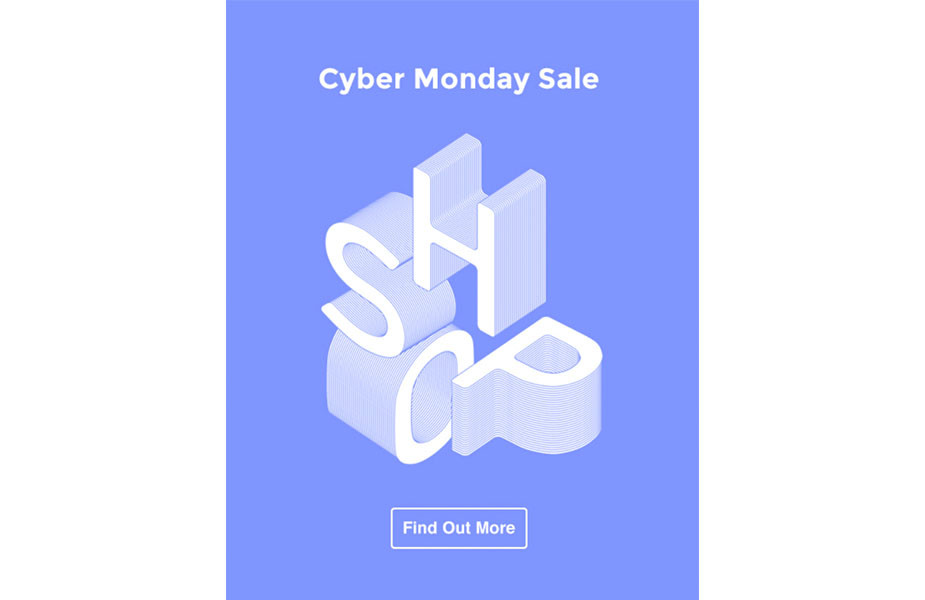Cyber Monday Sale newsletter template by Wix