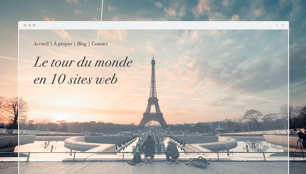 Le tour du monde en 10 sites Wix