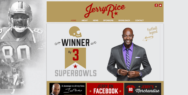 Site officiel de Jerry Rice