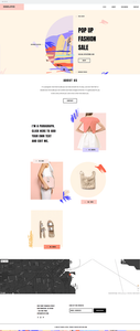 Wix templates: Pop up fashion store