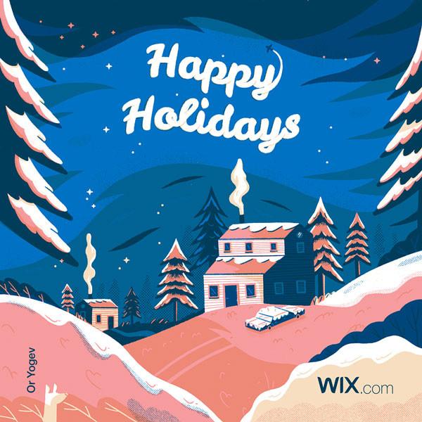 Online greeting card design by illustrator Or Yogev