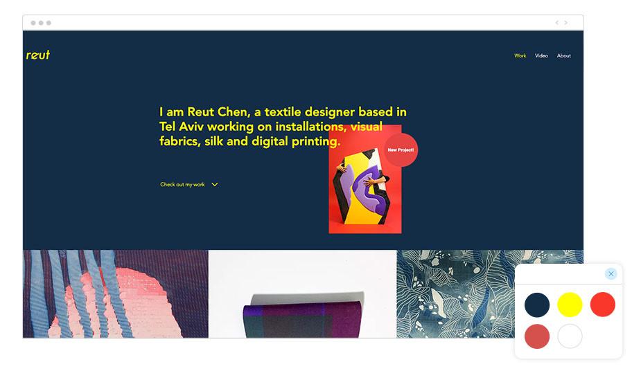 Página web Wix de diseñadora textil