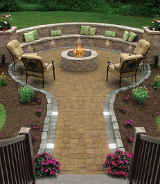 pics of patios with fire pits - Google S