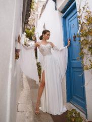 aline dress with slit