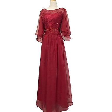 Mother of the bride burgundy dress