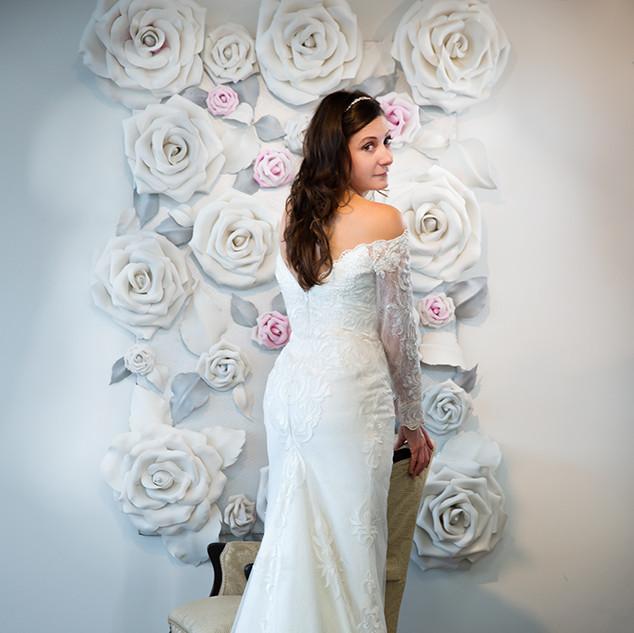 sheath long sleeve wedding dress