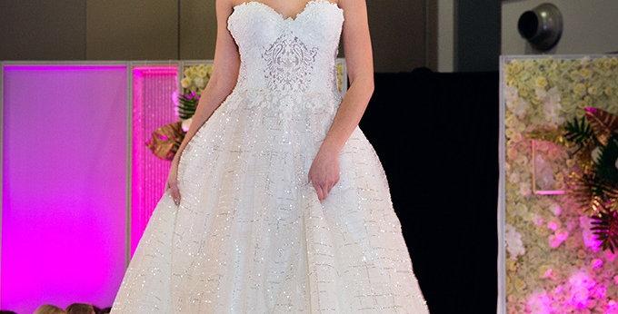 SAMPLE Sale - Theresa - Aline Sparkly Wedding Dress
