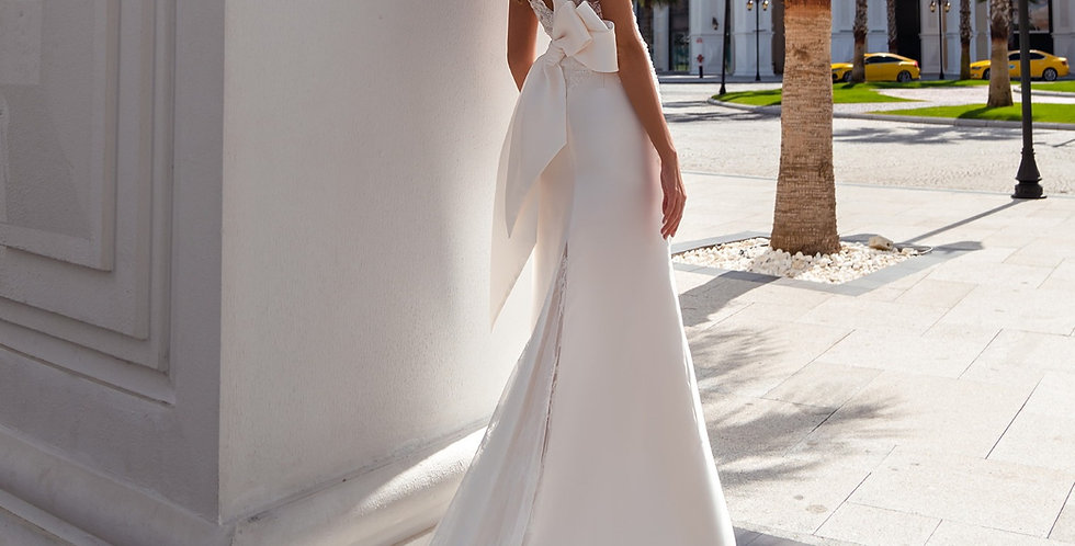 Celine - Mikado Fit and Flare Wedding Dress