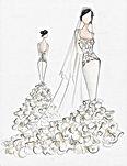 Custom Design Wedding Dress Sketch