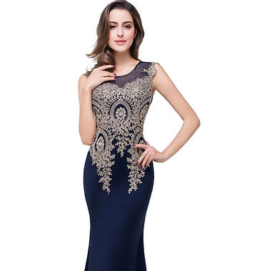 MOB fitted dress with golden lace 2.jpg