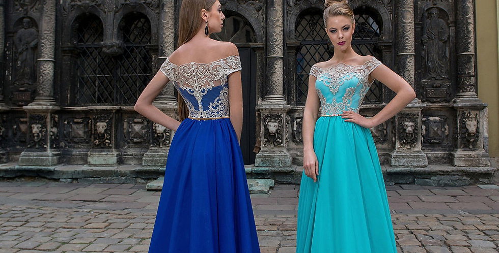 1338 - Aline Off-Shoulder Prom Evening Dress