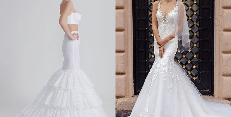 Bridal Petticoat for Mermaid Dress
