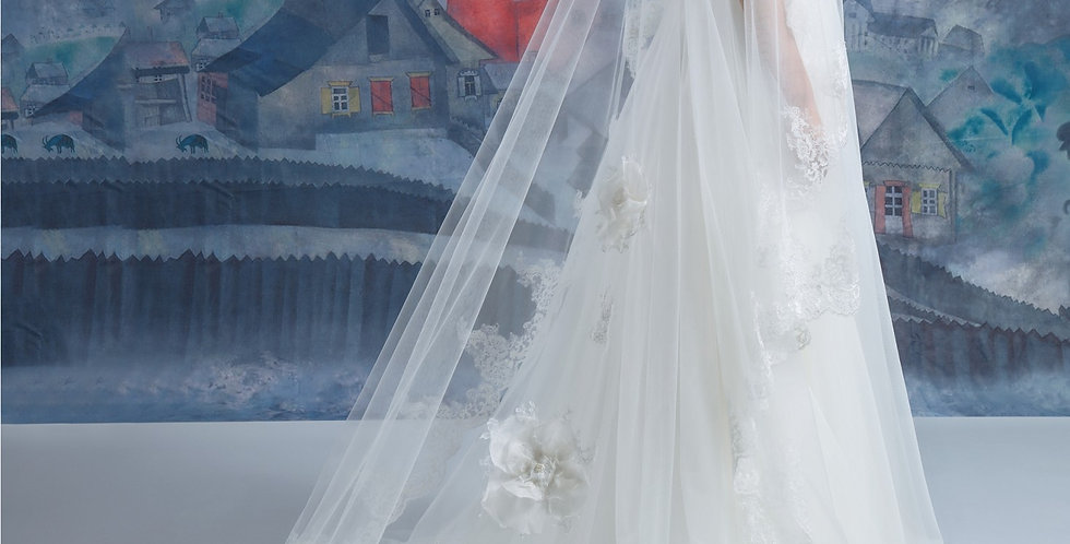 Cathedral Lace Veil - Double Layer