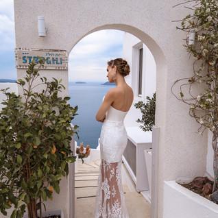 Tori boho wedding dress