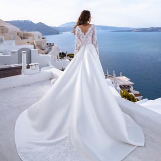 Tavia boho wedding dress