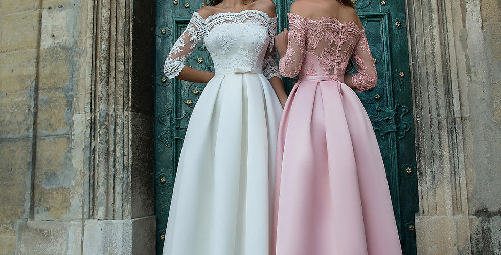 1382 - Aline Off-Shoulder Prom Evening Dress