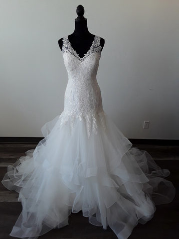 multilayer wedding dress
