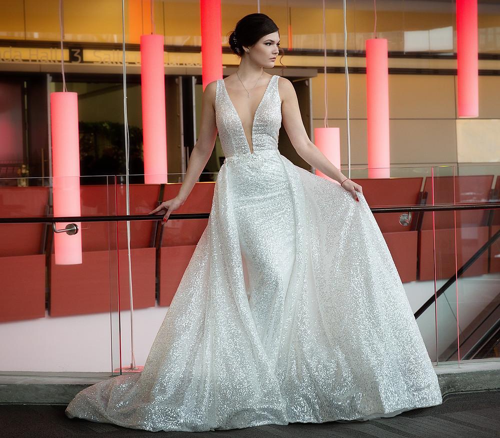 Sparkling wedding dress from Poshfair Bridal in Ottawa