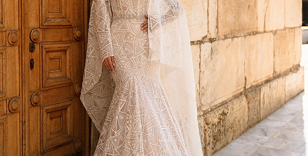 Lace Cape for Gloria Wedding Dress