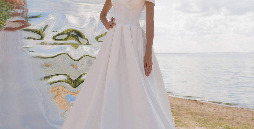 Dona - Satin Aline Wedding Dress