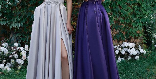 1584 - Satin Prom Evening Dress