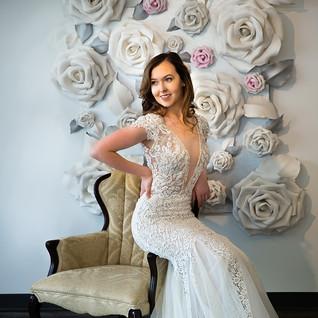 plunging vneck wedding dress