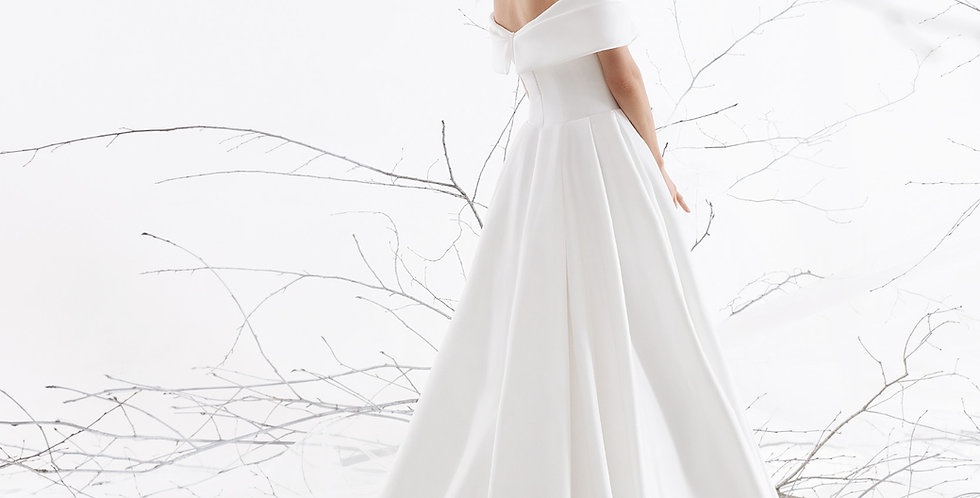 Hoppe - Aline Satin Wedding Dress