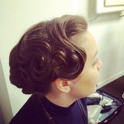 Today's shoot #hairstyling #vintagehair