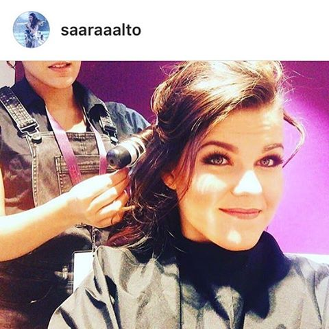 #regram me #hairstyling at the #itv #gala tonight! For the #beautiful _saaraaalto with _lisawaitemak
