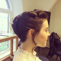 Some vintage hair 🎥 #vintage #hair #shortfilm #londonfilmacademy #bts #mua #makeupartist #hairandma