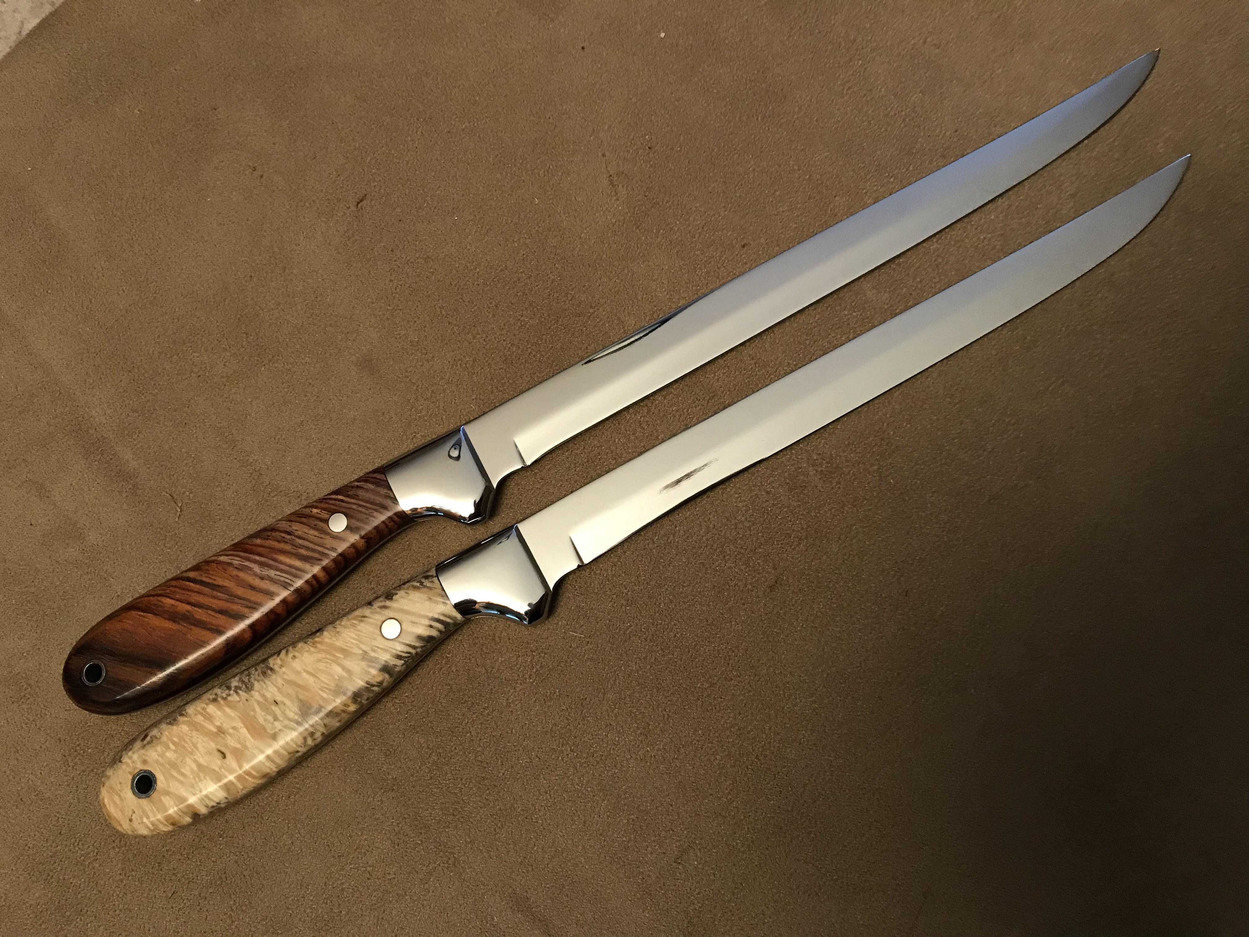 """Fillet Knives.  5""""-11"""" blades"""