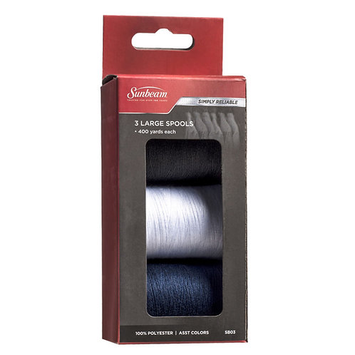 3 Large Thread Spools