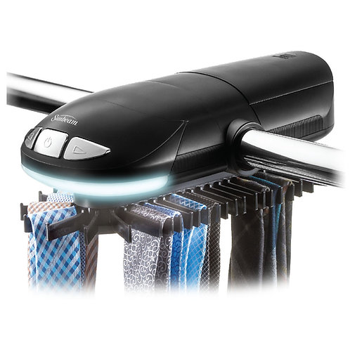 Sunbeam Motorized Tie Rack  LED Light Fits up to 50 Ties & Belts
