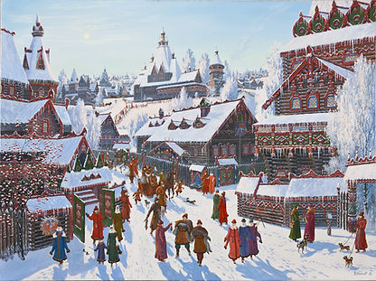 217Меховая ярмарка в граде    Новоторжск