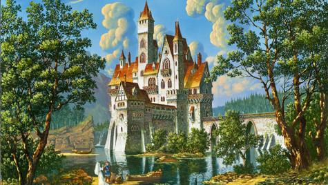 Замок у озера.