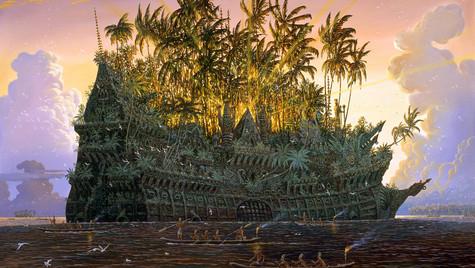Великий Табу.Корабль из Орианы на отмели.
