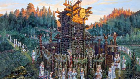 У храма числобога.