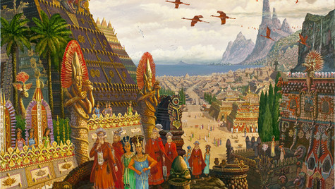 Купцы из Орианы прибыли в Атлантиду.