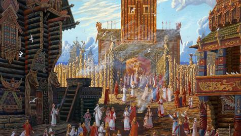 Храм Свентовида в Арконе.