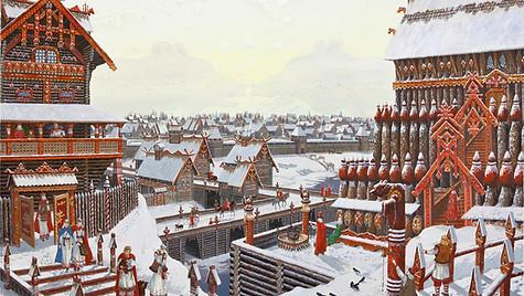 В русском городе Бера.