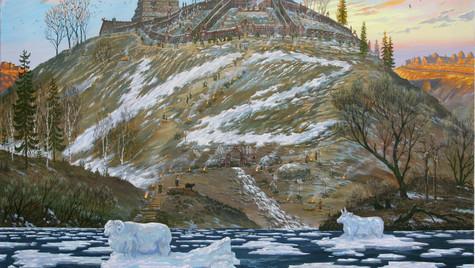Святилище на холме в районе Городни.