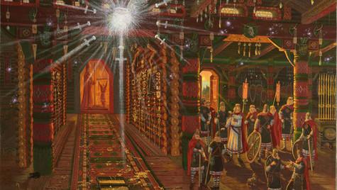 В Храме воинов в городе Ретре.Призрак.