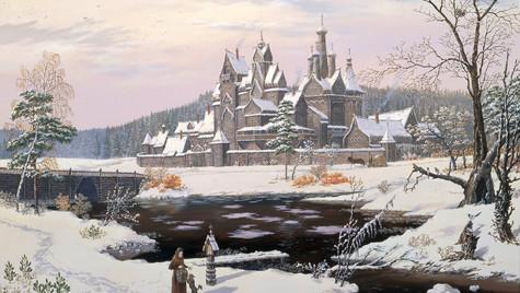 Монастырь у реки.